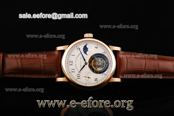 A.Lange & Sohne Datograph Moonphase Tourbillon Rose Gold Watch - 712.05.RGMW