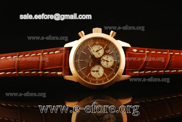Breitling Transocean Chrono Rose Gold Watch - RB015212
