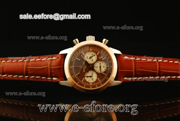 Breitling Transocean Chrono Brown Dial Watch - RB015212