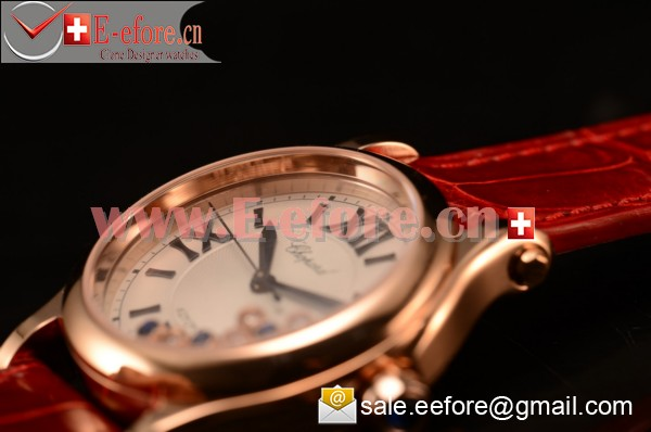 Chopard Happy Sport II 1:1 Original Rose Gold Watch - 274808-5001