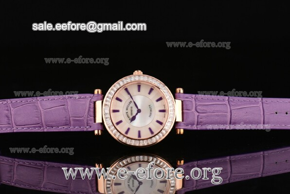 Franck Muller Ronde Purple Leather Watch - FM12102502