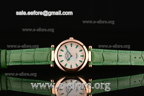Franck Muller Ronde Green Leather Watch - FM12102505