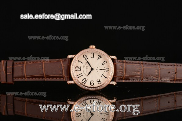 Franck Muller Liberty Brown Leather Watch - FM12102507