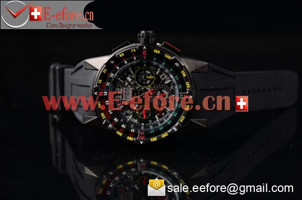 Richard Mille RM 60-01 PVD Black Rubber Strap Watch-RM 60-01 (EF)