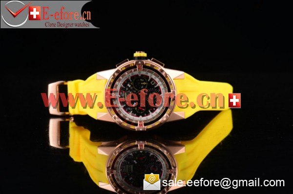 Richard Mille RM 60-01 Rose Gold Yellow Rubber Strap Watch-RM 60-01 (EF)