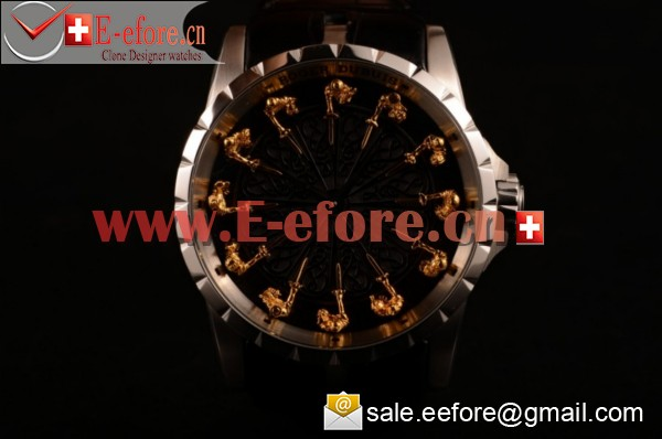 Roger Dubuis Excalibur Knights of the Round Table II Steel Watch - RDDBEX0495 (AAAF)