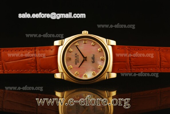 Rolex Cellini Pink MOP Dial Yellow Gold Watch - 5330/5 pmdb