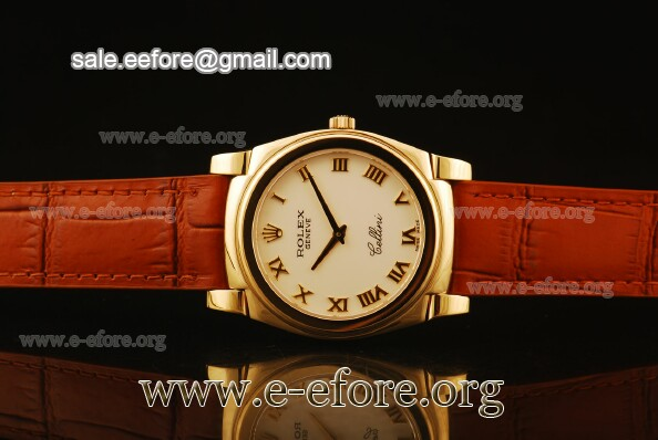 Rolex Cellini White Dial Yellow Gold Watch - 5330/5 wrb