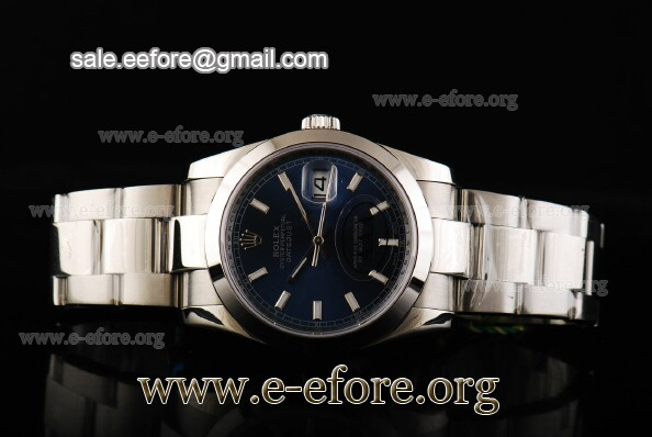 Rolex Datejust Oyster 36mm Blue Dial Watch - 116234 blso