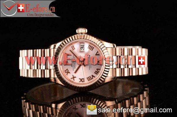 Rolex Datejust Rose Gold Watch - 279175 wrp (BP)