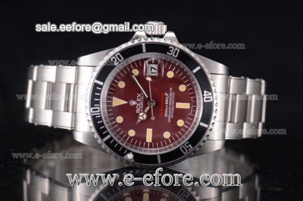 Rolex Tropical Red Submariner Vintage Steel Watch - 1680