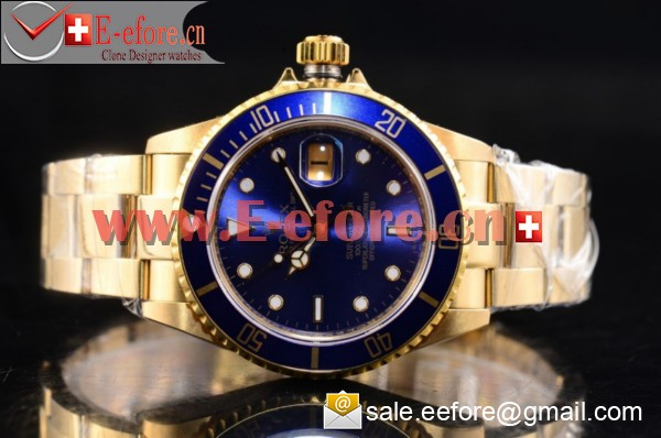 Rolex Submariner Yellow Gold Watch-116618LB (BP)