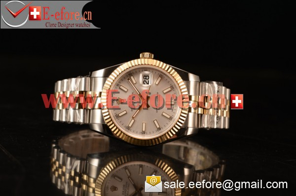Rolex Datejust 37mm A2836 Two Tone 116233 ssj With Sliver Dial (BP)