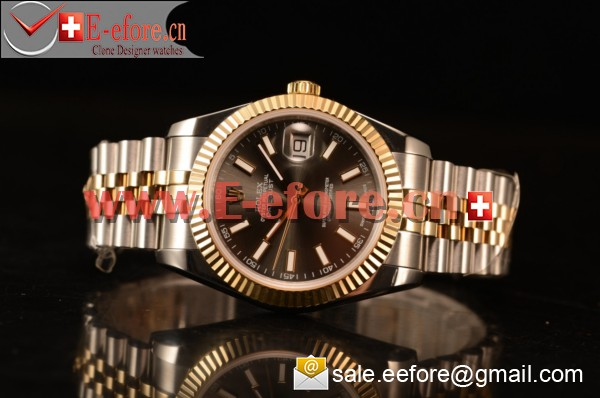 Rolex Datejust 37mm A2836 Two Tone 116233 brwsj With Grey Dial Stick (BP)